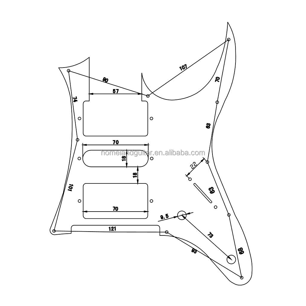 White Pearl Rg Pickguard For Ibanez Rg Guitar Parts