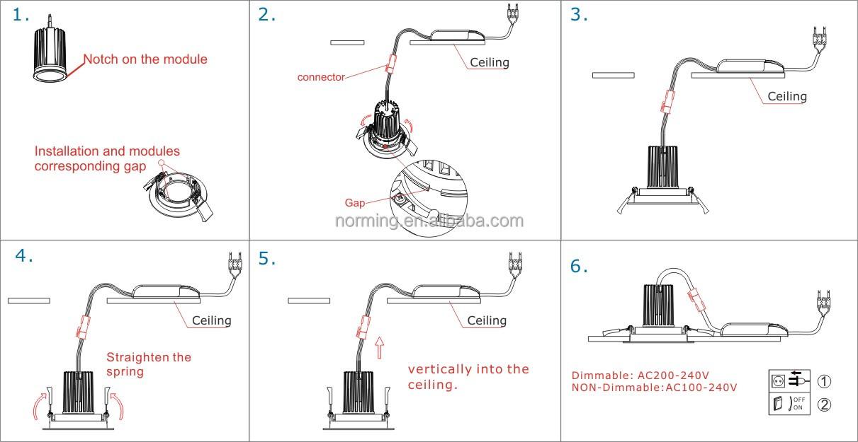 Wiring Ceiling Downlights | Integralbook.com