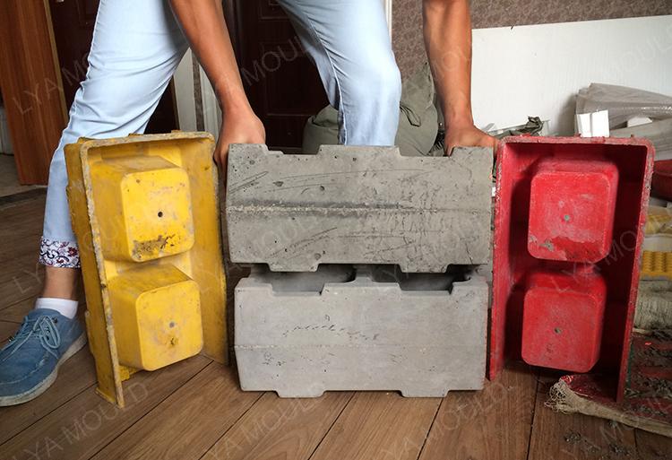 2017 New Design Pp Material Decorative Interlocking Concrete Blocks Molds