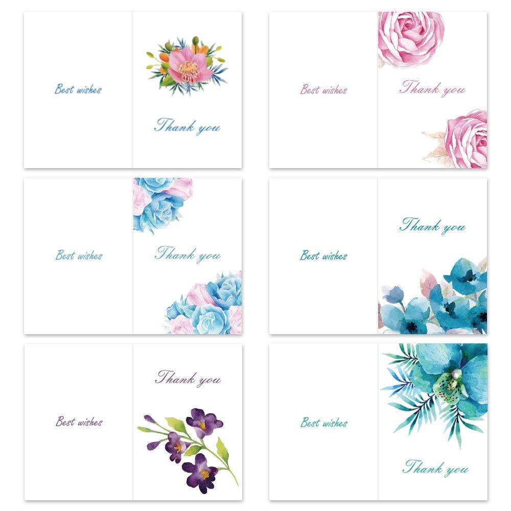 Desain Khusus Kartu Ucapan Kosong Floral Terima Kasih Kartu Box Set