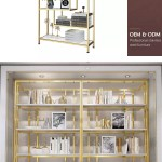 Open Back Home Bookshelf Furniture Modern Luxury Office