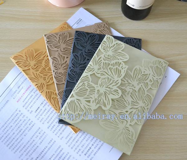 Laser Cut Paper Crafts Colorful Beach Wedding Invitations