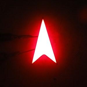 LED arrow indicator red single led arrow display super red