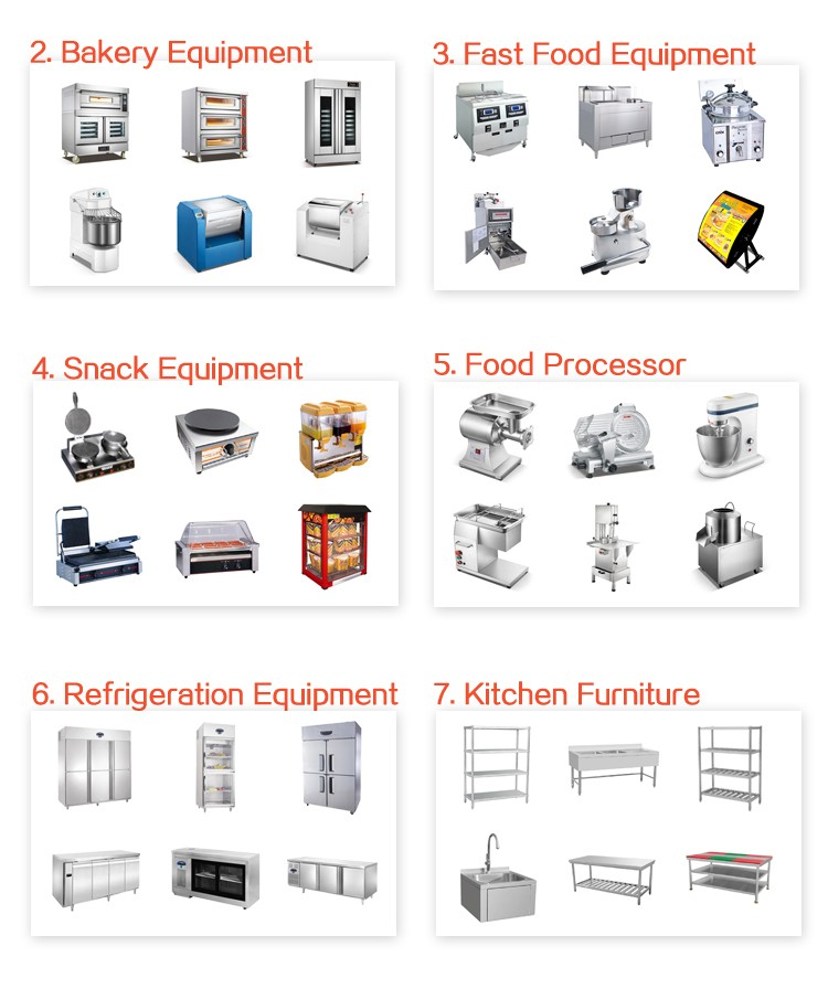 Full Solution 5 Star Hotel Commercial Kitchen Equipment List And Tools