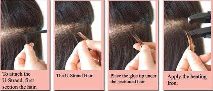 High Quality U Tip Hair Brazilian Virgin Remy Nail Extensions
