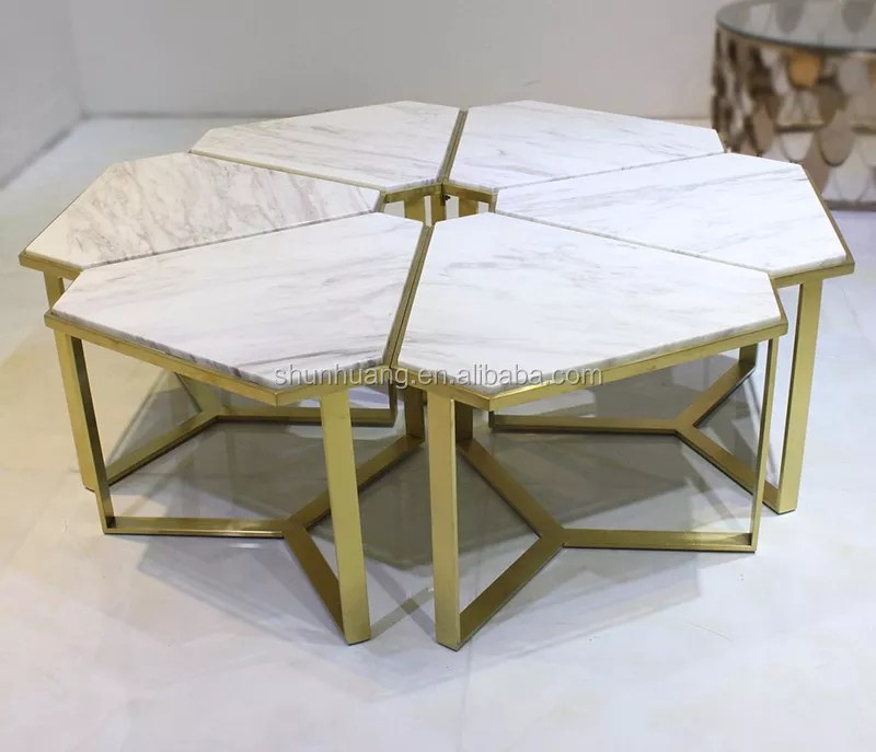 marble top flower shape coffee table sets living room furniture stainless steel table buy marble coffee table sets living room furniture stainless