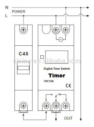 Digital timer switch for street lighting control (AHC15A