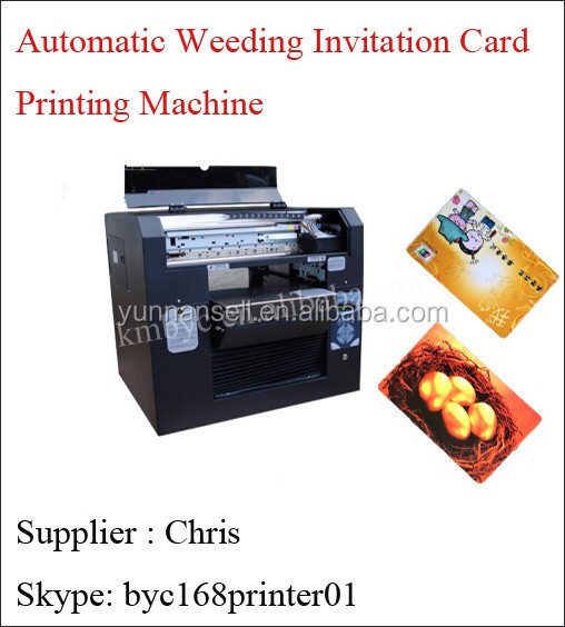 Automatic Wedding Invitation Card Printing Machine Pvc Business Printer