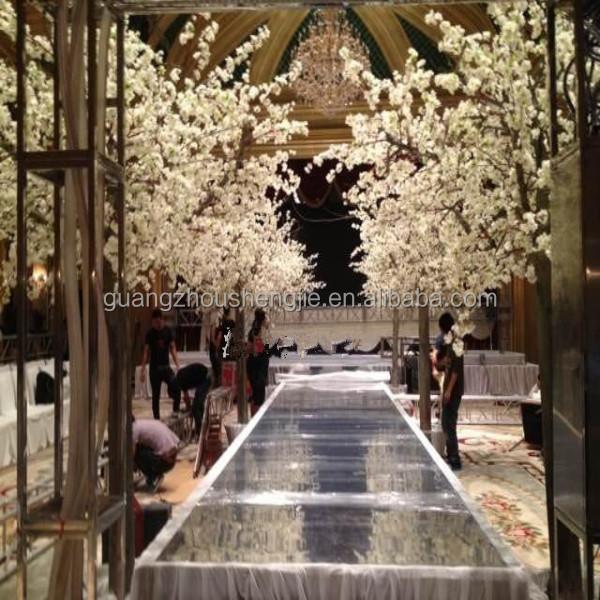 Q020305 Factory White Tree Wedding Decor Silk Cherry