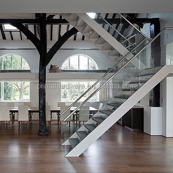 Modern Steel Staircase Glass Stairs Laminated Tempered Glass | Glass Staircase Panels Near Me | Modern Staircase Railing | Tempered Glass | Wood | Stair Balustrade | Stair Case