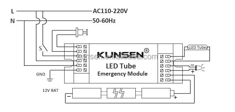 Batten Fitting T8 Emergency Kit For Led Tube 9w 18w 23w
