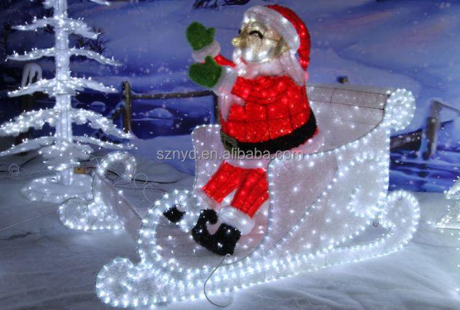 Santa 39 S Reindeer Mold Christmas Decoration