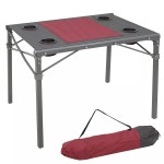 Outdoor Portable Aluminum Folding Picnic Camping Table With Cup Holders And Carry Bag Buy Aluminum Folding Picnic Table Aluminium Picnic Table Folding Camping Table Product On Alibaba Com