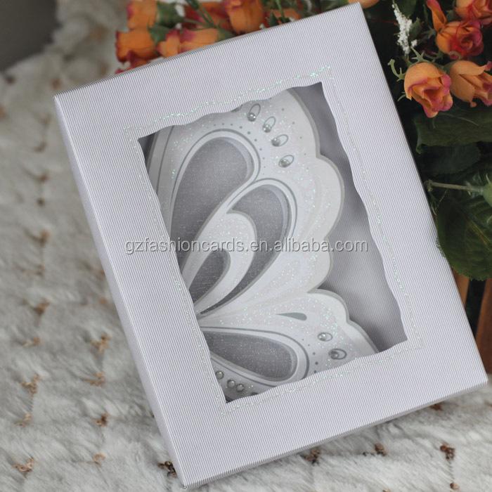 Latest Make Erfly Royal Luxury Scroll 3d Small Wedding Invitation Cards