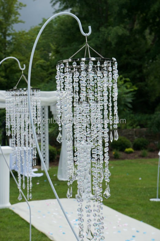 Hanging Crystal Chandelier Wedding Ceremony Decorations