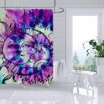 Buy Hippie Shower Curtain Fashion Tie Dye Rainbow Spirals