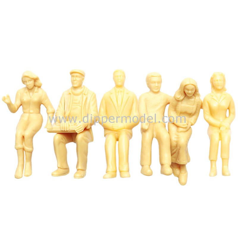 Various Miniature Plastic Architectural Scale Model And