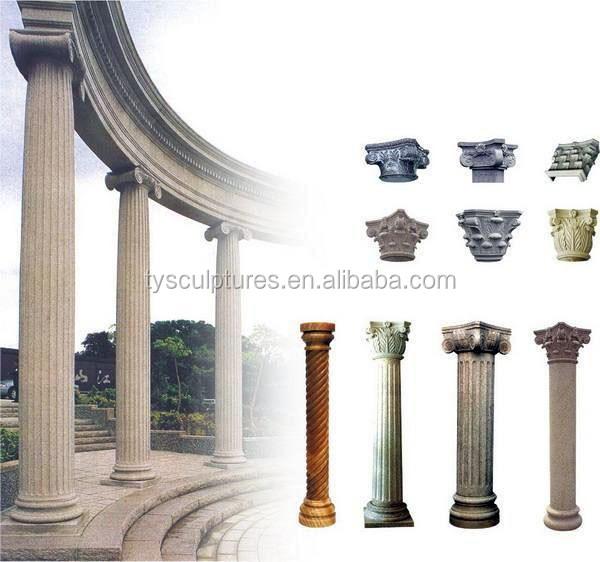 classique jardin exterieur decoratif marbre pilier colonne de pierre
