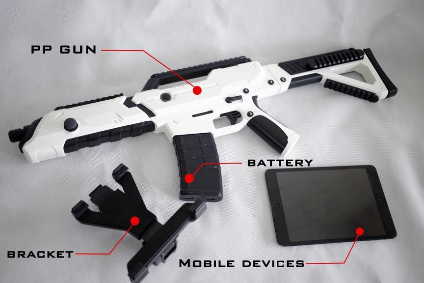 Wireless Mobile Bluetooth Game Gun Controller For Ios