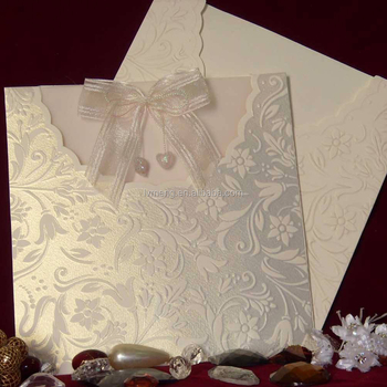 Tbz Design Wedding Invitation Cards African Lace Fabric Ribbon Card