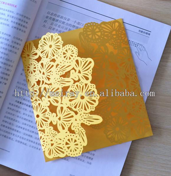 Europe Luxury Wedding Invitations Light Purple Mint Green Ivory Lemon Yellow Invitation Cards Unique
