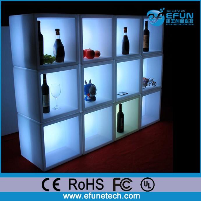 bricolage led lumineuse changeante de couleur vin vitrine barre etagere murale cube buy etagere murale cube etagere a barres eclairee a led etagere