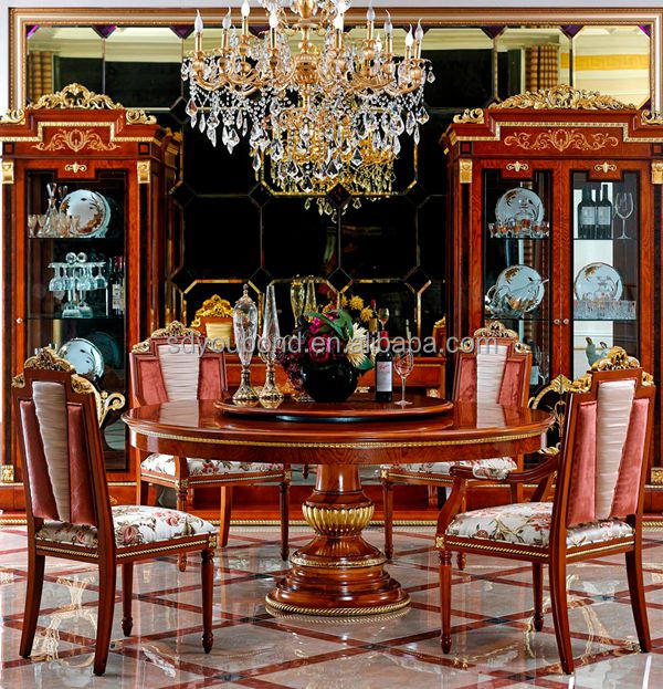 0038 High Quality European Solid Wood Luxury Classic Royal