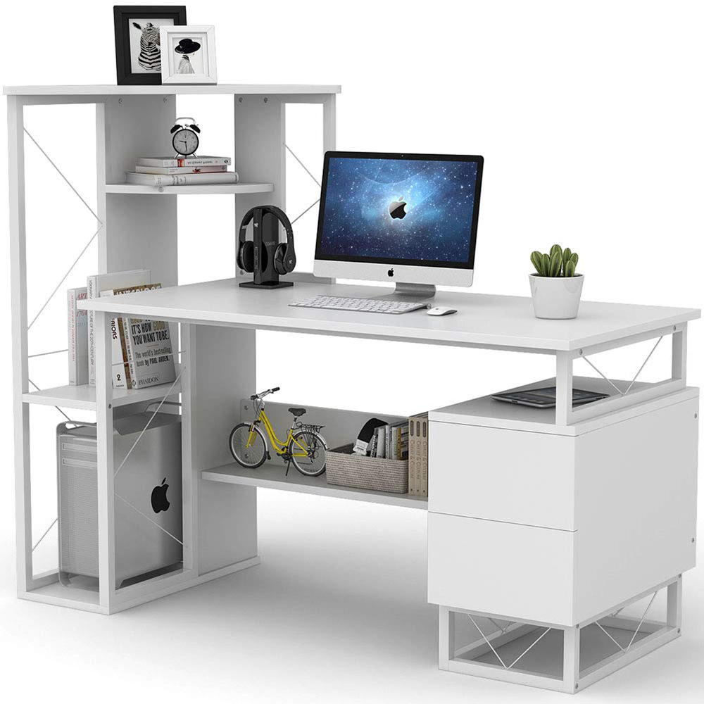 All White High Gloss Beautiful Computer Desk Bedroom Table Buy White High Glass Desk Computer Tables High Quality Computer Tables Product On Alibaba Com