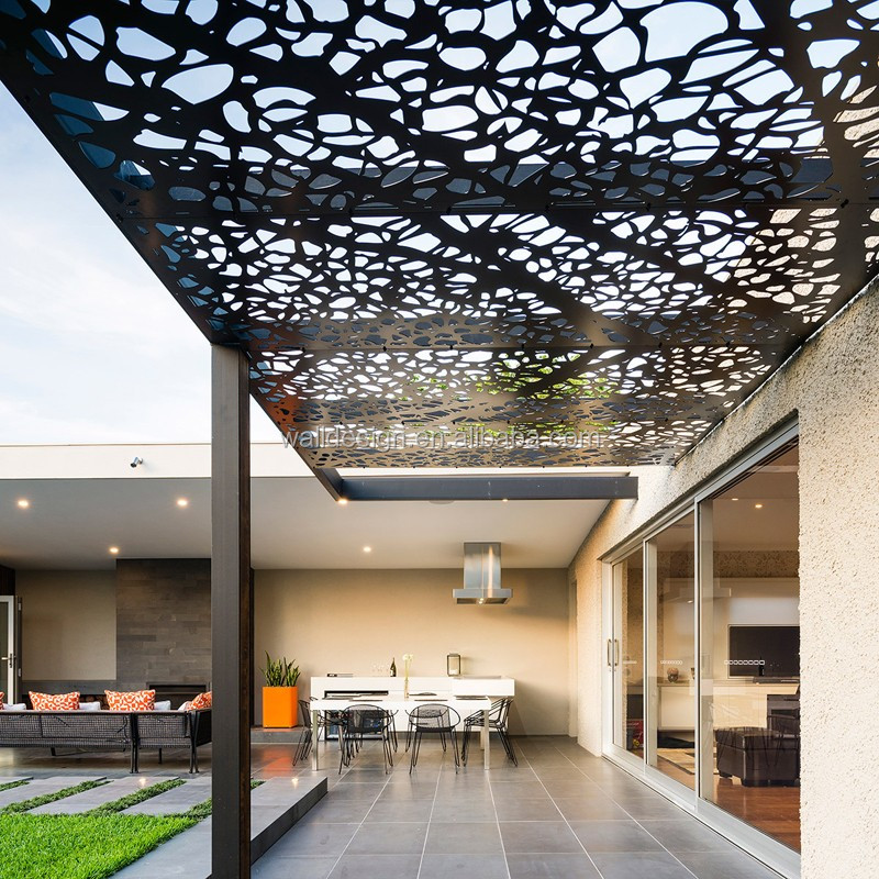 Corten Steel Decorative Perforated Metal Panels Used For