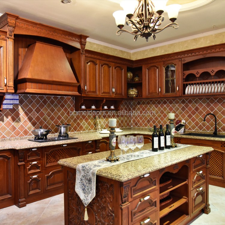 Kitchenette Open Type Red Oak Wood Kitchen Cabinet Kitchen Pantry Cupboards View Kitchenette Bomei Product Details From Guangdong Bomei Windows Doors Cabinets Co Ltd On Alibaba Com