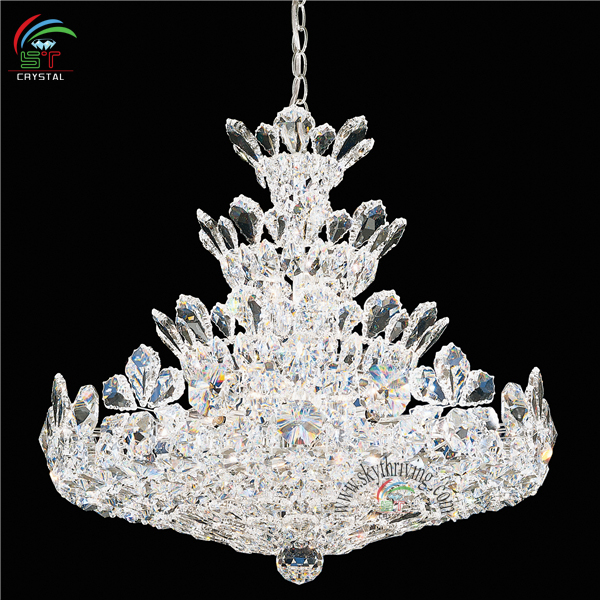 Chrome Crystal Chandelier With Asfour K9 Egypt