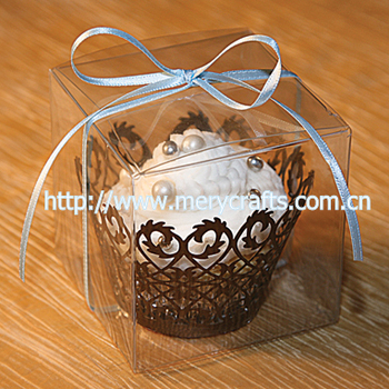 Clear Pvc Wedding Cake Box With Free Ribbons   Buy Wedding Cake Box     clear pvc wedding cake box with free ribbons
