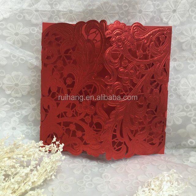 Red Wedding Invitation Card Supplieranufacturers At Alibaba