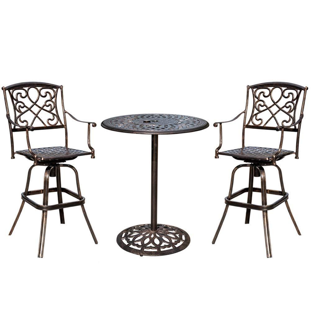cheap bar height outdoor table set