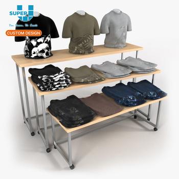 t shirt rack gold garment