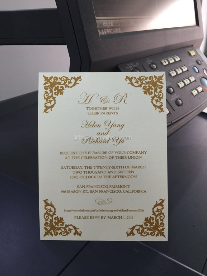 China Manufacturer Indian Wedding Cards Invitation