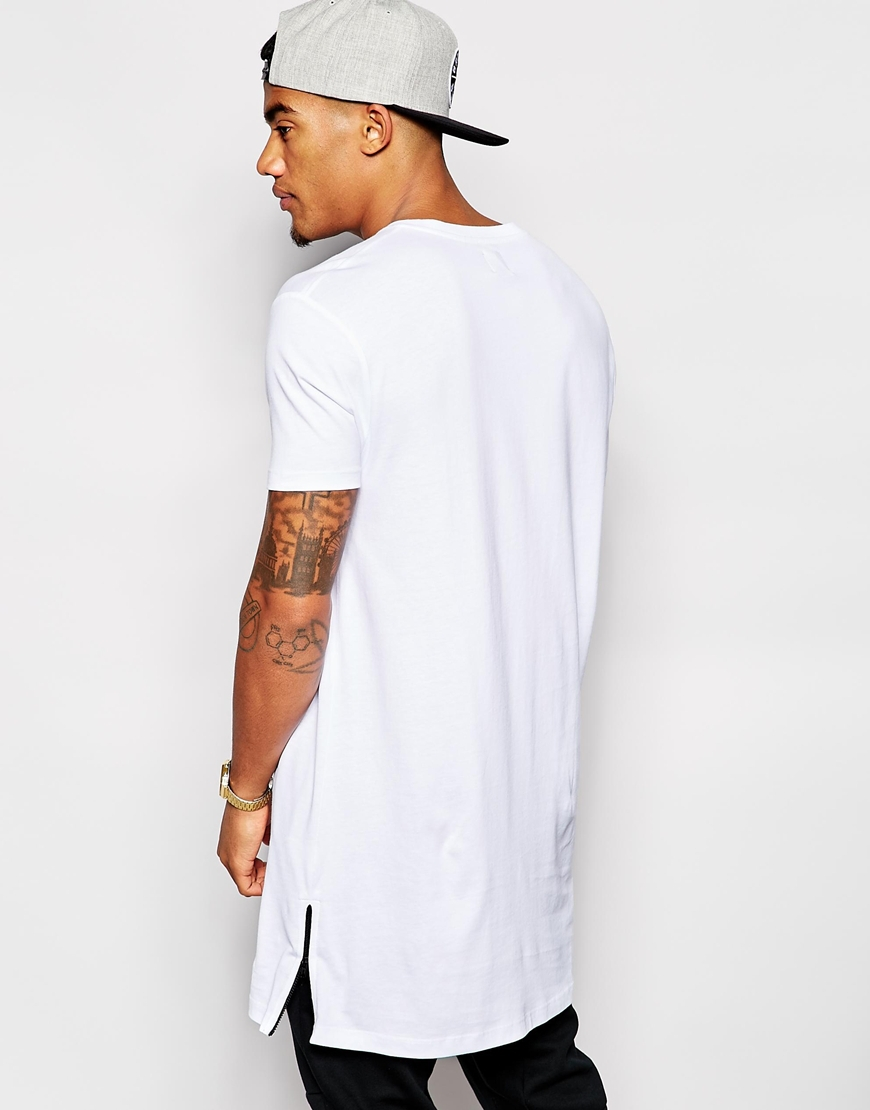 Mens Oversized Zip Side Tall T Shirts Wholesale Buy Tall