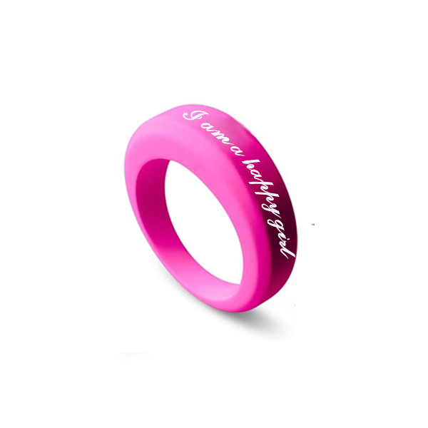 Fashion Silicone Finger RingBig Silicone Wedding Band