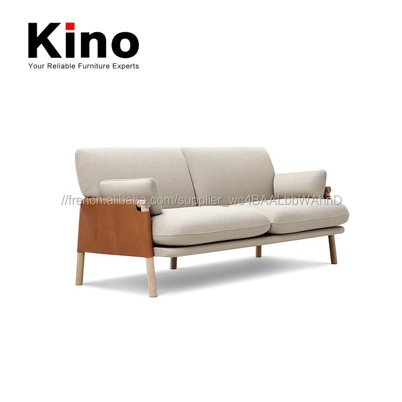 design moderne en bois cadre veritable en cuir causeuse canape tissu rembourre coussin canape pour