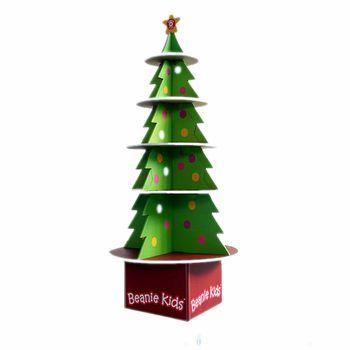 Christmas Tree Cardboard Floor Display StandPoint Of Sale