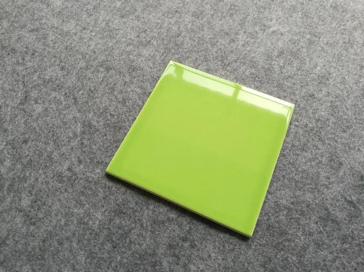 usa stylish 6x6 glossy light apple green subway tile ceramic wall for backsplash kitchen bathroom shower buy light green subway tile apple green