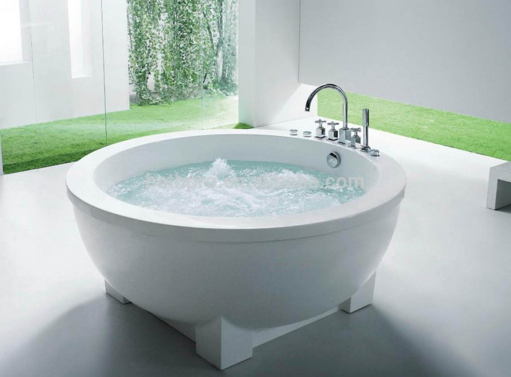 Freestanding Pure White Acrylic Small Round Bathtub R8002