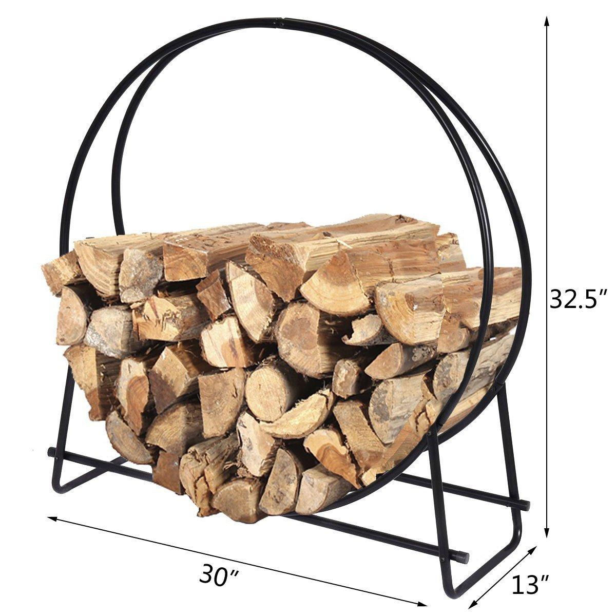 buy goplus firewood log rack hoop