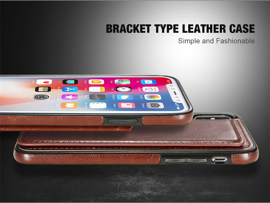 KISSCASE Retro PU Leather Case For iPhone X 6 6s 7 8 Plus XS 5S Multi Card Holder Phone Cases For iPhone XS XR 11 Pro Max Cover
