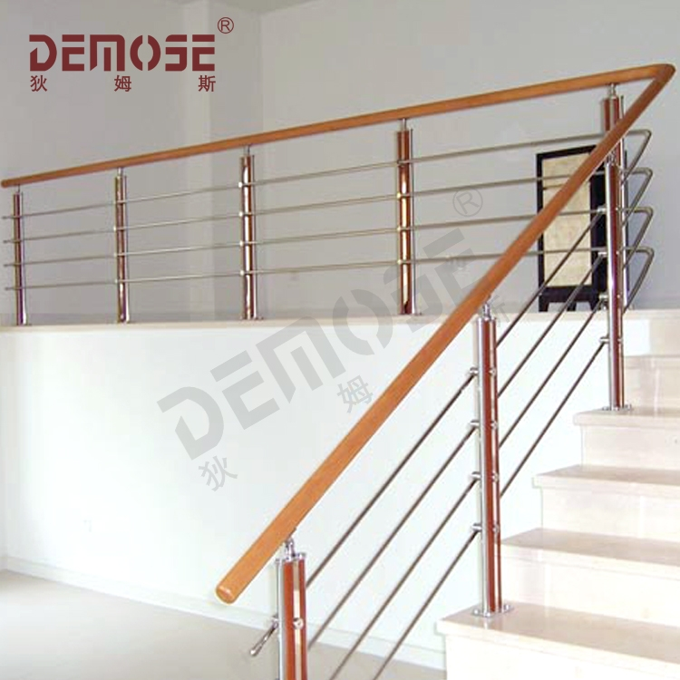 Stair Handrail Disabled Stainless Steel Pipe Stair Handrail   Stainless Handrails For Stairs   Toughened Glass   Outdoor   Mild Steel Handrail   Commercial Building   Metal