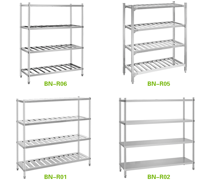 Solid Stainless Steel Cold Store ShelvingConvenience Store Shelf 4 Tiers H1550mm Buy