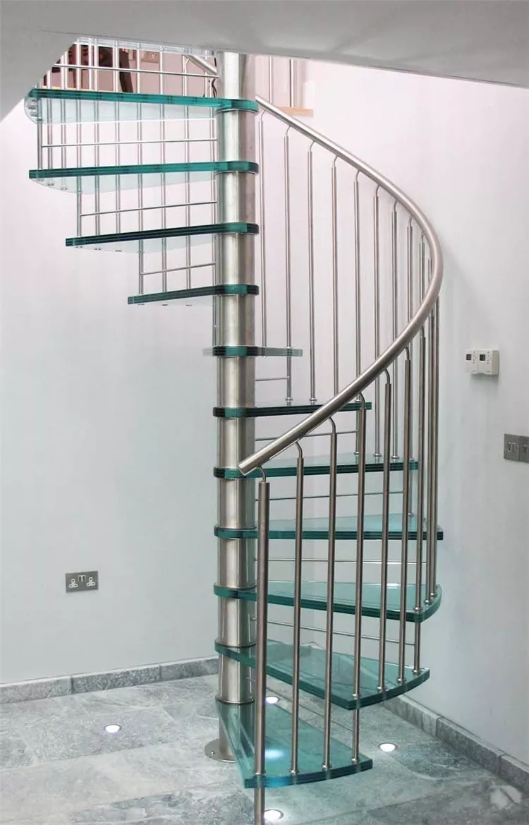 House Used Design Stainless Steel Glass Spiral Staircase Cost   Glass Spiral Staircase Cost   Laminated Glass Railing   Stair Railing   Stainless Steel   Prefabricate Stainless   Low Cost