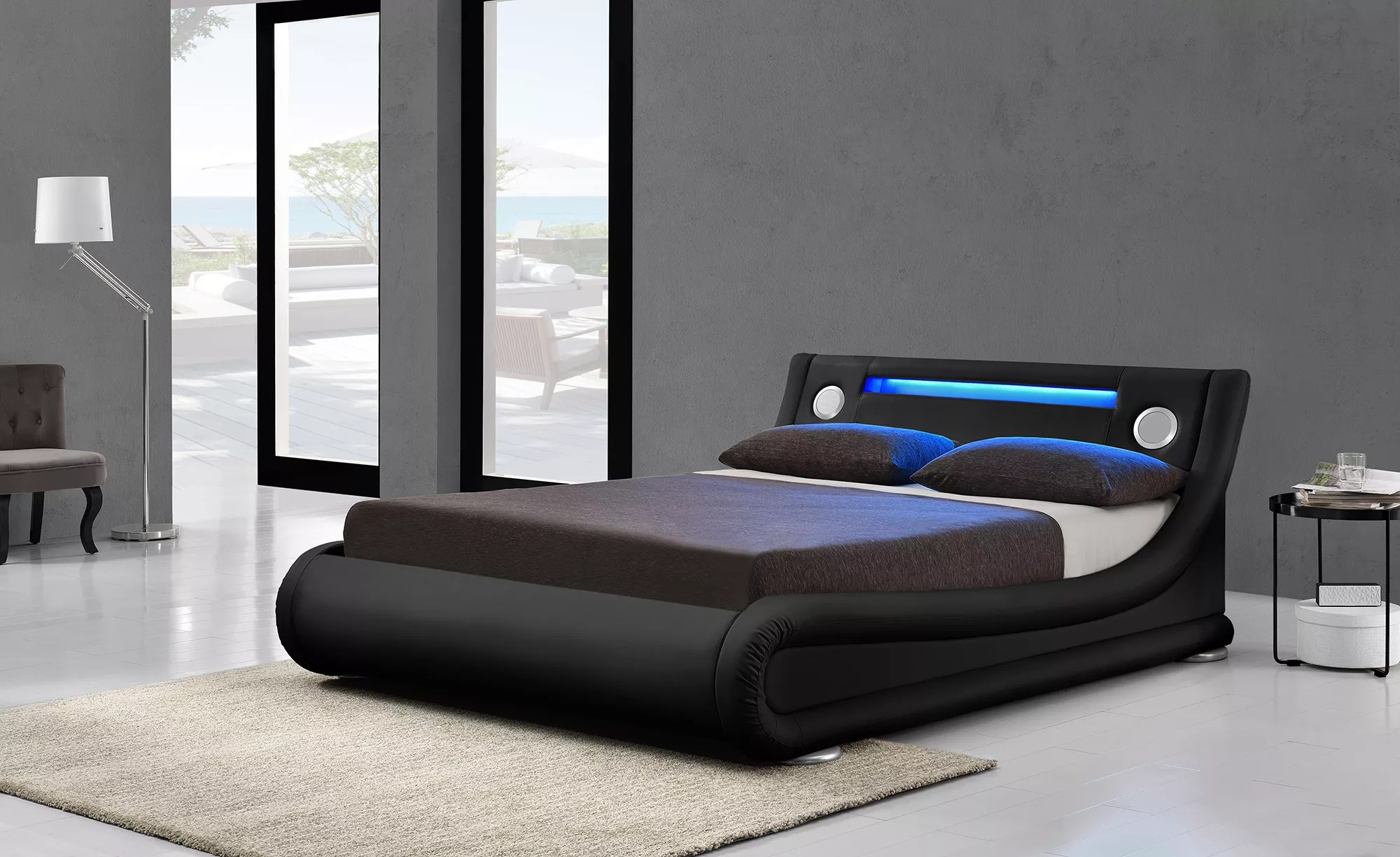 italian latest design leather king size led bed frame with bluetooth speaker buy storage bed leather led bed beauty bed with bluetooth speaker
