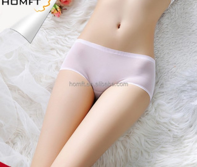 One Piece Seamless Mid Rised Mesh Ultra Thin See Through Sexy Transparent Ladies Underwear Panties