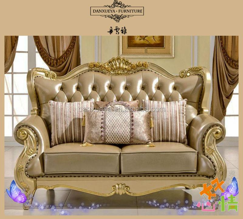 Italian Leather Antique Sofa Royal Furniture Sofa Set